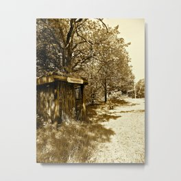 Old Train Stop in Denmark  Metal Print