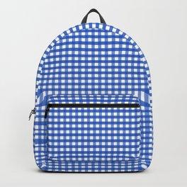 Gingham Blue Backpack