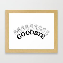 Goodbye III Framed Art Print