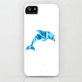 Dolphin artistic marine life illustration iPhone Case