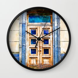 Vintage Old Entrance Door - For Doors & Travel Lovers Wall Clock