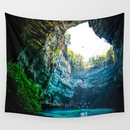 Sea Cave in Greece Wall Tapestry