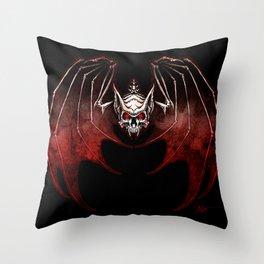Thee Vampire Guild Bat Icon Throw Pillow