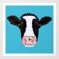 cow Art Prints featuring Cow by Compassion Collective