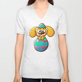The Birth of an Easter Bunny Unisex V-Neck