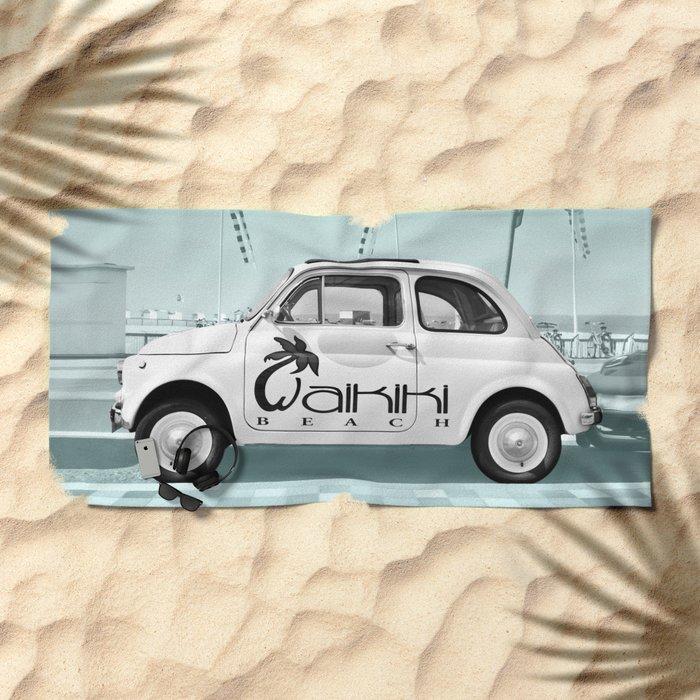 Fiat 500 Forever Beach Towel