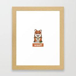 Cute Pembroke Cardigan Welsh Corgi Pet Dog Lover Framed Art Print