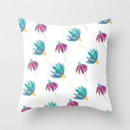 Raining daisies Throw Pillow