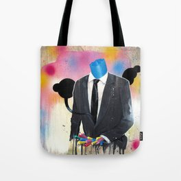 Plasticine man in a suit. Tote Bag