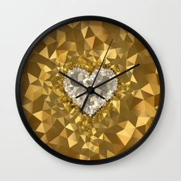 POLYNOID Heart / Gold Edition Wall Clock