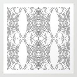 black line structure Art Print