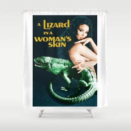 A Lizard in a Woman's skin, vintage horror movie poster Shower Curtain