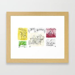 Joys of the Holidays Framed Art Print