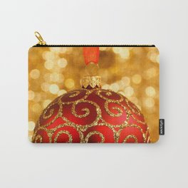 Christmas Bauble on Gold Carry-All Pouch