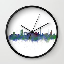 Berlin City Skyline HQ2 Wall Clock
