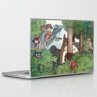 ghibli Laptop & iPad Skins featuring Studio Ghibli Crossover by malipi