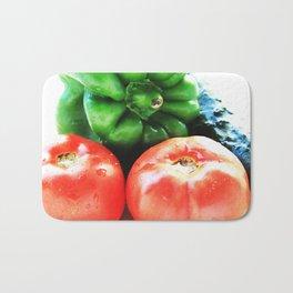 Colors of vegetables Bath Mat
