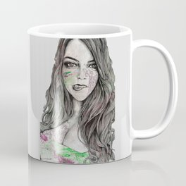 U-Turn (busty girl with mandala tattoos) Coffee Mug