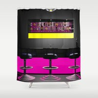 disco Shower Curtains featuring Disco by Littlebell