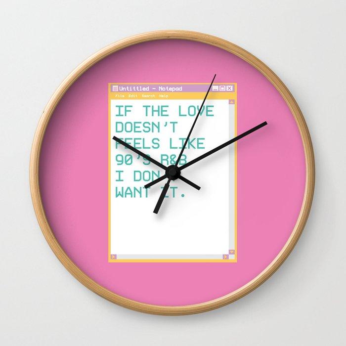 notepad'95 Fuschia Wall Clock