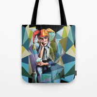 neon Tote Bags featuring Neon by Urban Artist