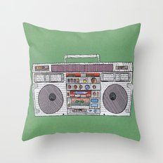 paper jams Throw Pillow