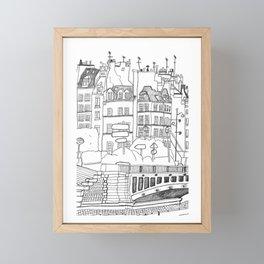 Paris Near Cathedral Notre-Dame Framed Mini Art Print