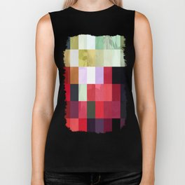 Mixed Color Poinsettias 2 Abstract Rectangles 3 Biker Tank