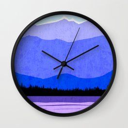 Blue Ridge Mountains Wall Clock