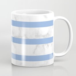 marble horizontal stripe pattern blue Coffee Mug