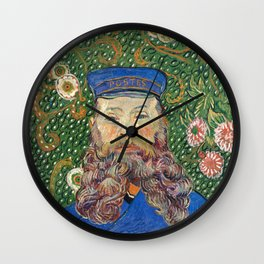 Portrait of the Postman by Vincent van Gogh Wall Clock