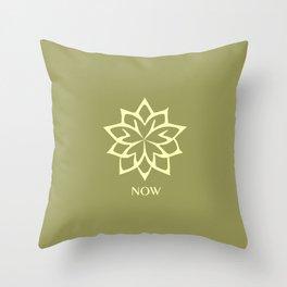 NOW ZEN Moss Green color Throw Pillow