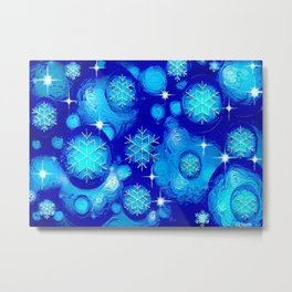 FROSTY BLUE Metal Print