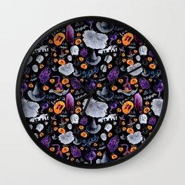 Halloween-Black Background Wall Clock