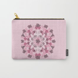 Crystals Succulents Mandala PINK Carry-All Pouch