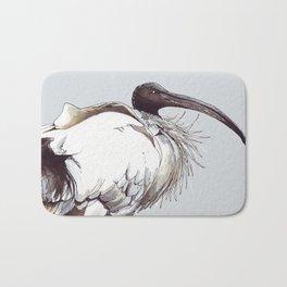 Painted Australian White Ibis Bath Mat