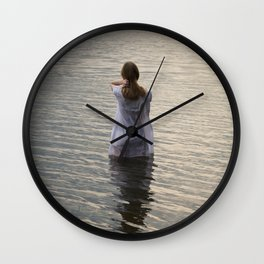 Dreaming in the water Wall Clock