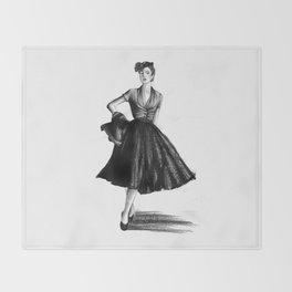 Fashion 1950 Throw Blanket