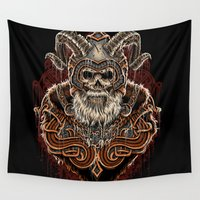 viking Wall Tapestries featuring VIKING by Demones