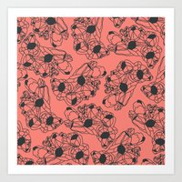 Pink Barnacles Art Print