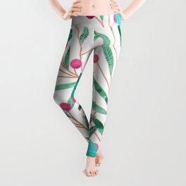 Turquoise Floral Leggings