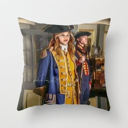 Commodore Kara Zor-El color version Throw Pillow