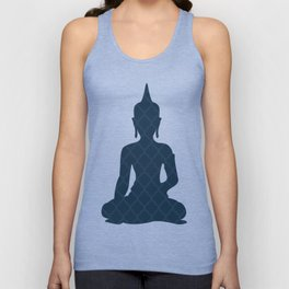 Navy Blue Buddha Unisex Tank Top