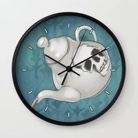 johnlock Wall Clocks featuring Johnlock Teatime by enerjax