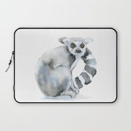 Ring-tailed Lemur Watercolor Laptop Sleeve