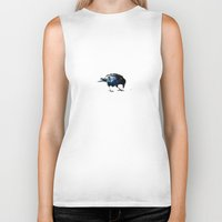 crow Biker Tanks featuring Crow by Ridi Simone