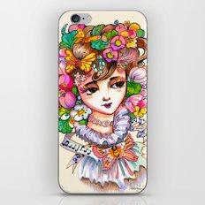 Papillon une Fille iPhone & iPod Skin