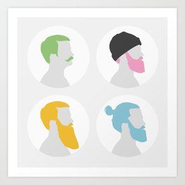 4x Mister hipster Art Print