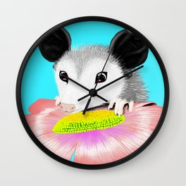 Blossom the Opossum Wall Clock