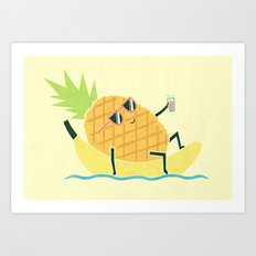 Summer Chillin Art Print